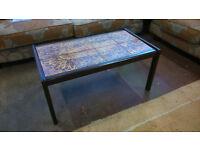 Tiled top rectangular coffee table