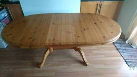 Solid Oval Pine Extendable Table