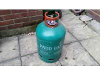 Patio gas bottle with gauge