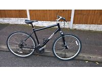 pinnacle 2 hybrid bike fast road cycle 24 speed discs and suspension large great condition
