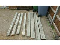 4 posts and gravel boards