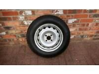 Vauxhall combo van spare wheel and new tyre