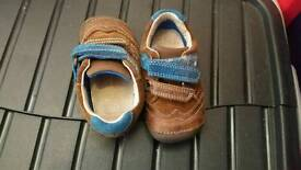 Clarks baby boy shoes size 4F
