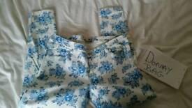 Lady flower denim jean jeans clothes fashion