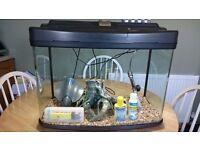 64 L FISH BOX AQUARIUM + EXTRAS