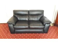 Black Leather 2 seater and 3 seater sofas. Excellent condition.