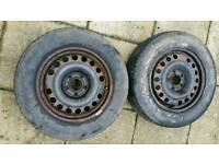 Wheel and tyres