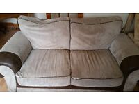 2-seater, 3-seater and footstool (in need of TLC)