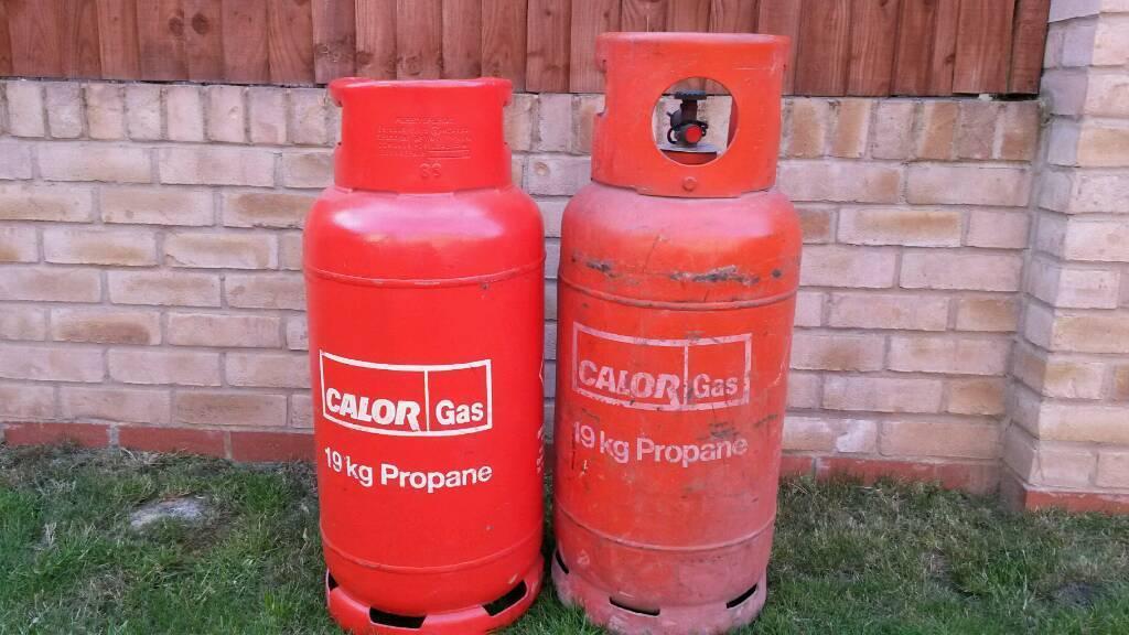19 kg full bottle of propane calor gas!