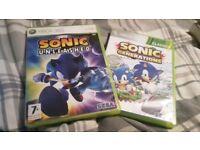 Sonic Xbox 360 games.