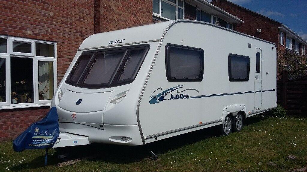 six berth touring caravan