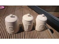 Cream tea, coffee, sugar ceramic jar set