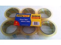 36 x Rolls Clear Strong 48x66mm Genuine Stikky Brand Packing Tape New