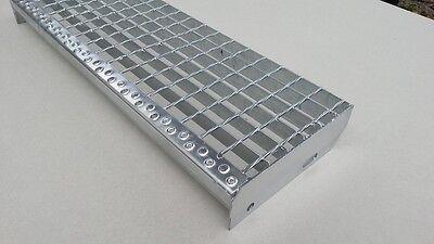Gitterrost Treppenstufen, Stufe 500 x 240 Tragstäbe 30 x 2 Schweißpressroste
