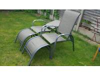 Recliner x 2 garden chairs