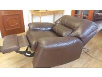 Very comfortable leather electric recliner chair in excellent condition and in full working order