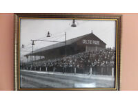 old celtic park belfast celtic/ football greyhound stadium framed photo sign