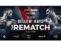 David Haye v Tony Bellew 2 tickets 5th May O2 -London