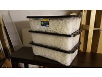 Free packing peanuts, peanut packaging, protective packaging + Storage Boxes