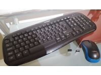 Wireless keyboard and mouse £20