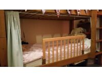 BabyDan Wooden Bed Guard Rail - Natural