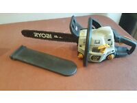 "Ryobi PCN4545 45cc 18"" 45cm Bar Petrol Chain Saw Industrial Powerful Chainsaw Fully Working - London"