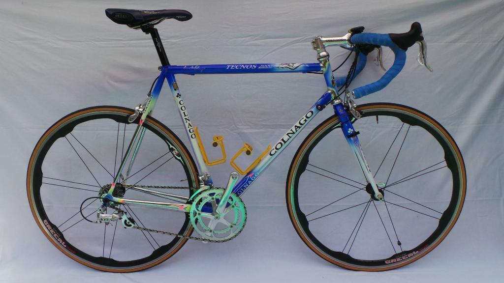 Colnago Tecnos 2000 Art Decor Columbus Steel Road Bike Campagnolo