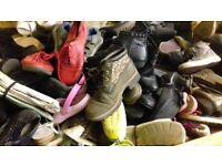 joblot/wholesale of 100kg of mixed shoes, grade B (export)