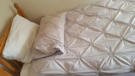 Light Grey SINGLE Bedding ***NEED TO SELL IMMEDIATELY*** Very good quality, bought 4 months ago
