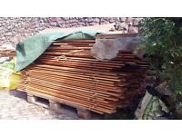 Lots of 80x20mm larch deck slats and 60x15mm larch fence slats half price as slightly used.