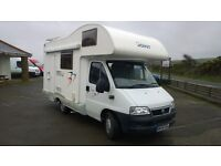 Fiat ducato motor home, joint e33, 2006 reg, 1997 cc turbo diesel, only 26,000 miles , new mot