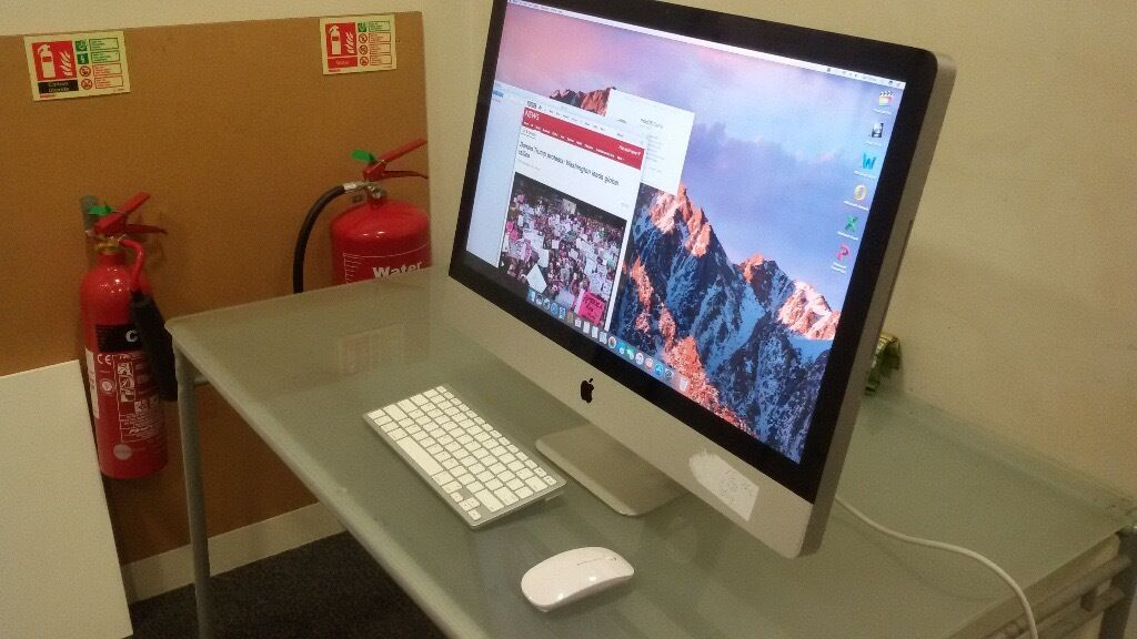 Imac 27 inch, 2010. QUAD CORE I5 8GB ram 1TB HDD Apple Computerin Haringey, LondonGumtree - 1GB Video memory It easily handles extreme stress from video editing and music making software. 27 inch wide screen. 2K Twice the clarity of HD. 8 GB Ram 1TB Hard Drive, Generic wireless mouse and keyboard Latest Mac OS Sierra plus Microsoft Office....
