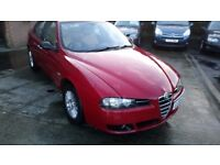 ALFA ROMEO 156 1.9 JTD TURISSMO 05 REG IN RED WITH LEATHER AND MOT OCT 2018