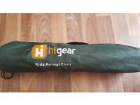 Hi gear Childs foldable animal camping chair in carry bag