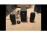 Logitech 2.1 speakers with subwoofer