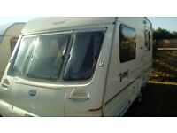 Bailey pageant majestic with motor mover touring caravan