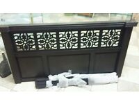 Dark wood new quality double bed headboard with all fixings free delivery or collection