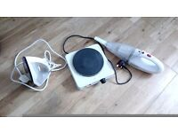 Electric cooker ,vacum cleaner, steam iron