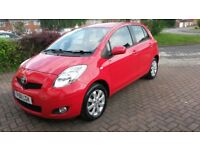 Toyota Yaris 1.3 litre, 2011, red, 29,000 miles, 5 door, semi-auto, great condition