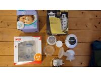 Electric breast pump and feeding accessories