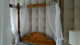 Pine bedroom furniture Four poster bed ect