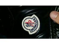 Womens Moncler black coat size 2