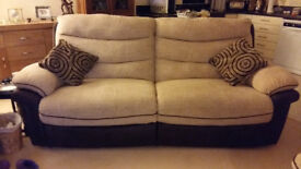 Sofa - 3 seater, and 2 chairs - all recline (one electric). Excellent condition