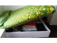 Brand new Ikea storage bed base with matress