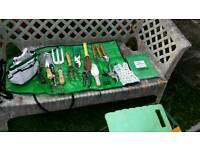 Assorted garden hand tools