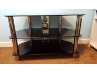 HOME Matrix TV Unit - Black Glass