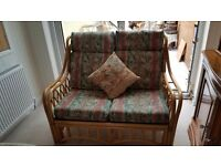 Conservatory Furniture - Cane 4 Piece Set comprising of a 2 seater sofa, 2 chairs & nest of tables