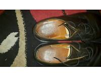 Mens used dark brown leather shoes,