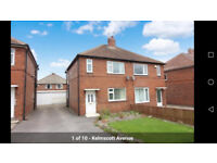 3 bed semi family house to let -- Partly furnished