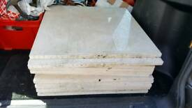 14 x 600x600x20mm beige marble High gloss paving/tiles new